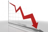 decreasing line graph